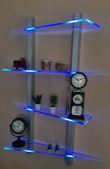 LED Regal Zick Zack Musterbau RGB Funkfernbedienung